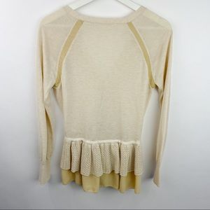 Anthropologie Sweaters - Knitted and knotted anthropologie ruffled cardigan